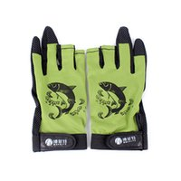 Wholesale Pair Skidproof Resistant Half Finger Pack Fishing Rod Anti Slip Gloves New