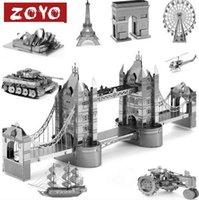 arch architecture - Alloy Metal Miniature Scale Model Eiffel Triumph Arch Leaning London Tower Bridge d Puzzle World s Great Architecture Toys