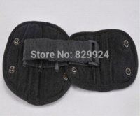Wholesale 2 High Quality Hand made black children car safety belt adjuster baby auto seatbelt positioner