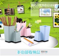 Wholesale Kitchen household plastic pen box creative multifunctional draining tableware chopsticks cage tube makeup
