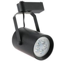 Wholesale Super bright LED Track Light LEDs W AC85 V COB Rail Adjustable Track Spotlight lamp for Mall Exhibition Office Use light