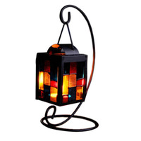 Wholesale Candleholder Retro Iron Moroccan Style Christmas Candlestick Lamp Light home decor