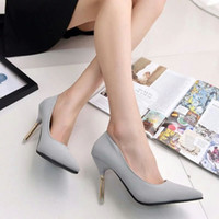 Wholesale women s shoes fashion sexy genuine leather pointed toe high heeled shoes belt women s shoes button thin heels