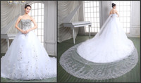 Wholesale 2016 Wedding Dresses Real Image Luxury Crystal Rhinestones Bridal Gowns Beads Court Train Vintage Ball Gown Wedding Dress PH86115