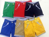 baby short trousers - Hot Summer Children Infant Boys Short Cotton Trousers Different Colors Elastic Meterid Denim High Qualilty Baby Kids Clothing