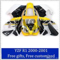 aftermarket yamaha parts - Fairing kits for Yamaha YZF R1 motorcycle fairing sets Yellow Black YZF R1 Aftermarket motorcycle fairing parts free gifts
