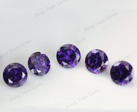 amethyst grading - 50pcs AAAAA Grade Dark Amethyst mm Loose Cubic Zirconia Stone CZ Gemstone For Jewelry