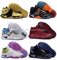Wholesale 2016 Cheap Kyrie II Basketball Shoes Irving Signature Mens Sneaker Cheap HBW Original Athletic Sneakers US Size
