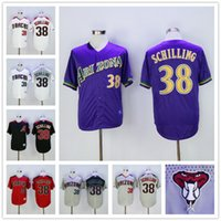 arizona store - 2016 Arizona Diamondbacks Curt Schilling MLB Baseball Jerseys Purple Gray Black White Red Cheap Outlets Store