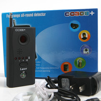 Wholesale CC308 Anti Spy Camera Detector Multi Detector Wireline Wireless Signal GSM BUG Listening Device Full Frequency Full Range All Round Finder