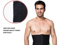 Wholesale ZEROBODYS Men Body Shapers Corests Belt Slimming Burn Fat Decrease Beer Belly Lose Weight Size Waist Cinchers LGC24