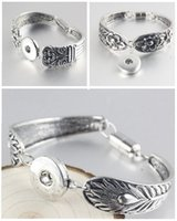 ancient african jewelry - Ancient silver bracelet engraved pattern magnet mm noosa DIY personalized snap button bracelet Valentine s Day Jewelry E103