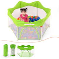 baby pool safety - Newly Baby Playpen Door Infant Playing Yard Safety Foldable Toddler Fence Game Tent Indoor Outdoor Ocean Ball Pool VT0387