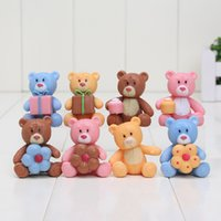 Wholesale Mini set cm Care bear Cute Painted Figure Gift Love Teddy Bear Dolls PVC Action Figures Kids Toys Gifts