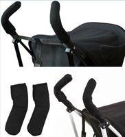 Wholesale 2XBlack Elastic Stroller Pram By Pushchair Handle Cover Bar Grip Sleeve Neoprene Baby Stroller Grip Cover New