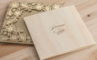 Wholesale Vintage Gold Lace crochet doily Wedding invitation Rustic Pattern Elegant Invitation Card Template lasercut in