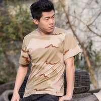 Wholesale Men s Military camouflage Tactical t shirt Outdoor Camping Hiking Hunting Airsoftsports tops