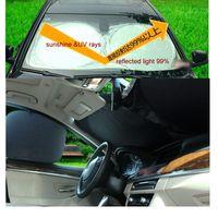 Wholesale NLM New Car Window Sun Shade Car Windshield Visor Cover Block Front Window Sunshade UV Protect Car Window Film Set