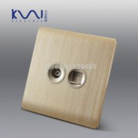 ac outlet wiring - Kempinski Luxury Wall Socket TV and Telephone Outlet Champagne Gold AC V C31 series