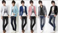 Wholesale Spring Autumn Period Leisure Suit Man Slim Korean cotton Material Blazer One Button Elastic Men s Coat Color Options