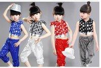 baby jazz clothing - 2016 new arrivel children girl Sequins five star peice suit dancewear Modern dance jazz dance clothes