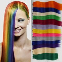 Wholesale 20pcs TOP Quality Tape Hair Extensions Tape in Human Hair Extension Straight Brazilian PU Hair Skin Weft Hair More Color