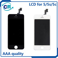 Wholesale High quality LCD Display Touch Digitizer Complete Screen with Frame Full Assembly Replacement for iPhone S C With Free DHL Shipping