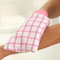 bath mud - New High Quality Fabrics Plaid Cabei Bath Gloves Double Thick Thick Double sided Chopping Rubbing Mud Bath Towel Free Rub