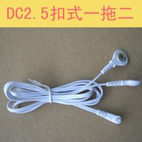 acupuncture accessories - The one with two button electrode paste electrode physiotherapy massage instrument treatment instrument accessories wire line
