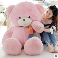 big feet video - 2016 New Arriving From head to foot size measurements CM inch TEDDY BEAR PLUSH HUGE SOFT TOY Plush Toys Valentine s Day gift pink