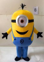 Wholesale 2016 Revised Version Top Selling fashion Minions Halloween Cartoon cospla Adult Animal mascot costume