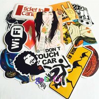 Wholesale 100 mixed decal Car Styling Skateboard Laptop Luggage Snowboard Car Fridge Phone DIY Vinyl Decal Motorcycle Sticker Covers