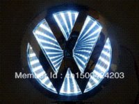 Wholesale New Blue D LED Car Volkswagen Decal Logo Light Badge Lamp Emblem Sticker for vw