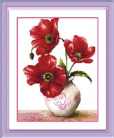 Wholesale Corn poppy cross stitch finished products in full bloom