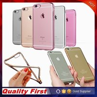 bag technology - iPhone S Case Ultra Thin Shock Resistant Metal Electroplating Technology Soft Gel TPU Silicone Case Cover for S7 S6 Transparen Opp Bag