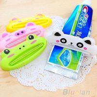 Wholesale Bathroom Home Tube Rolling Holder Squeezer Easy Cartoon Toothpaste Dispenser MVY