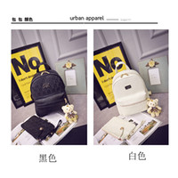 ban plastic bags - Miss Han Ban PU leather shoulder bag fashion backpack personality College Wind leisure travel bag schoolbag school students