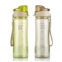 Wholesale Wholesales Plastic Water Bottle Portable Leak Proof Juice Cup Portable Travel Sports Drinks Mug Unbreakable Water Bottle ml JD0064