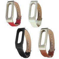 Wholesale 2016 New Smartband Tools Leather Bracelet Strap Replacement for XIAOMI Mi Band Wrist Wristband Strap Wearable Devices
