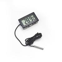 Wholesale 700pcs Mini Digital LCD Probe Aquarium Fridge Freezer Thermometer Thermograph Temperature for Refrigerator Degree FY