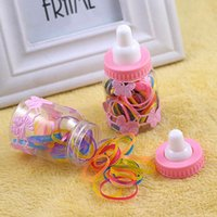 baby bottle bands - Cute kid hair circle Feeding Bottle candy color hair rubber band for baby hair rope