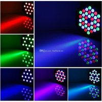 Wholesale 36W LED Flat Par Stage Lights Lamp with EU US Plug for Club Disco KTV E00373 OSTH