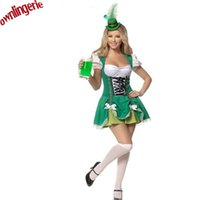adult leprechaun costume - Adult Women Sexy Halloween Carnival Party Beer Girl Fancy Dress St Patrick s Day Irish leprechaun Costume Lucky Green Costume