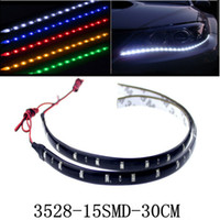 automobile led light strips - 30cm LED Daytime Running lights DC V Waterproof Auto Car DRL Driving Fog lamp Flexible LED Strip light for automobile