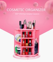 Wholesale New Degree Spin Cosmetic Makeup Organizer Box Storage Rack Case Colours Clear Acrylic Cosmetic Jewelry Organizer Makeup Box Case