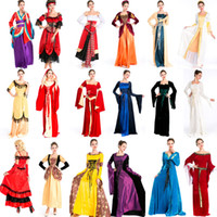 arab tv - Europe noble Arab Halloween masquerade game uniforms exotic queen Cosplay long dress Dress