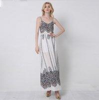 aztec dress - High Quality Spaghetti Strap Aztec Print Maxi Dress