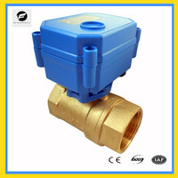 Wholesale CWX DN25 brass way motorized ball valve DC12v CR02 three wires electric ball valve for water treatment water leakage