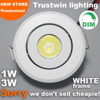Wholesale Indoor outdoor V V white Mini ceiling LED spot light lamp dimmable W W mini LED downlight dimmable