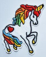 Wholesale Unicorn Rainbow Patches Iron on Heart s Retro Kawaii Kitsch Rockabilly Punk